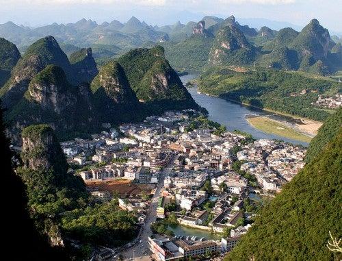 La particular geografía de la región china de Guangxi