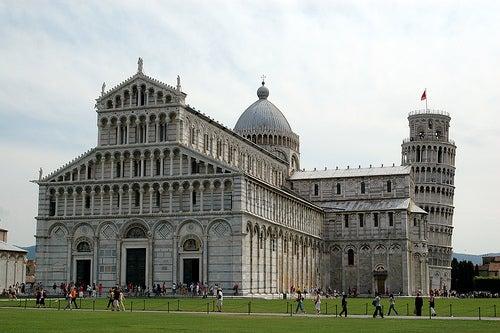 Viaje a la torre de Pisa, Italia