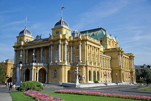 Le théâtre national croate, l'opéra de Zagreb