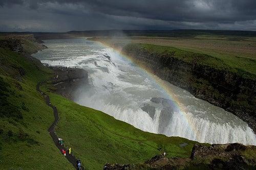 La cascada de Gullfoss