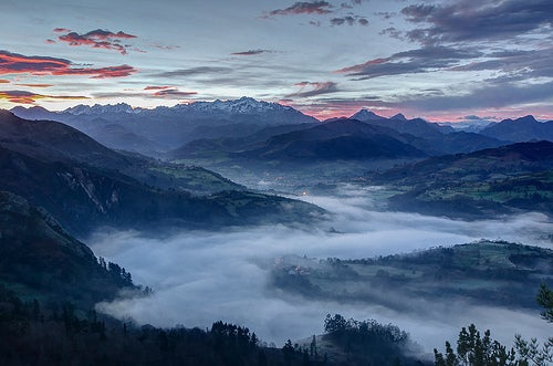 Cangas de Onís, en los Picos de Europa