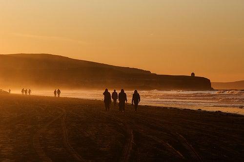 La playa de Portstewart Strand, sobre el océano Atlántico