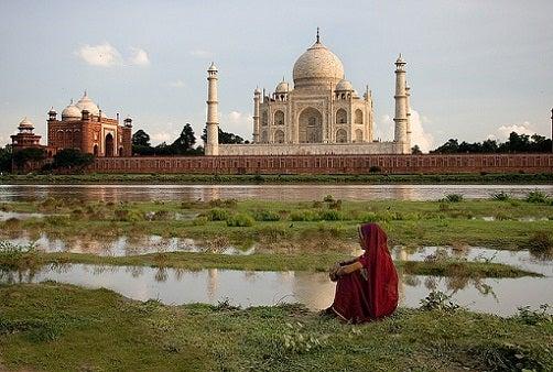 Taj Mahal desde el río
