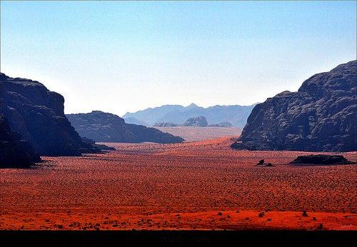 El desierto de Wadi Rum en Jordania, un trozo del planeta Marte