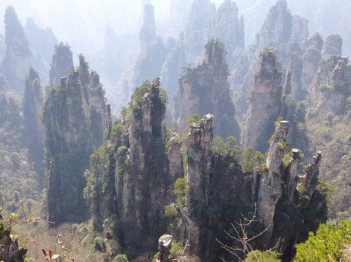 El Parque Nacional del Bosque de Zhangjiajie