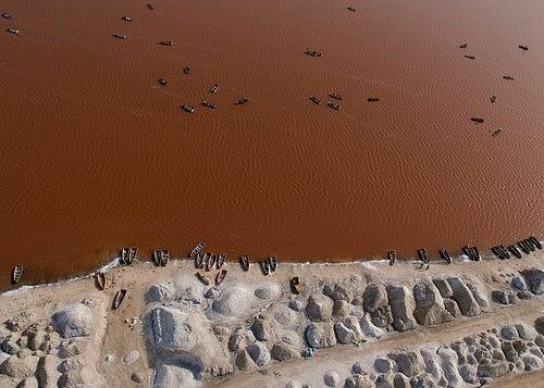 El Lago Retba, una laguna de color rosa