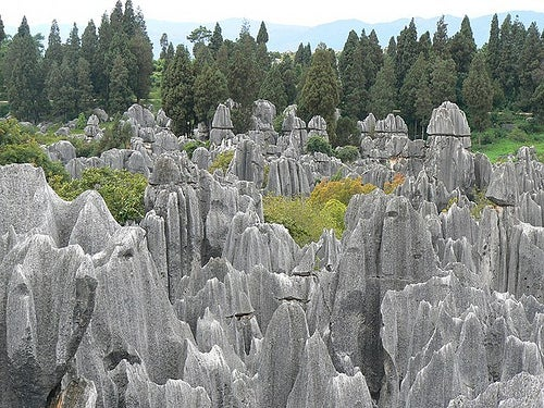 El bosque de piedra en Shilin, China