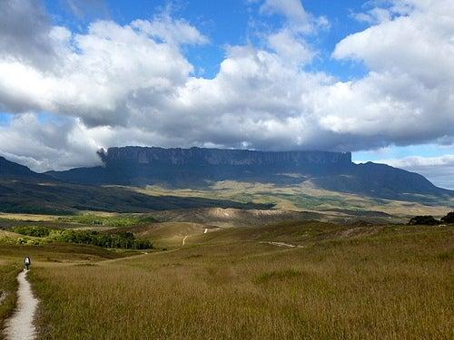 El monte Roraima, en la frontera entre Venezuela, Guyana y Brasil
