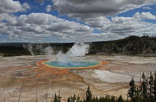 La fuente prismática del Parque Nacional Yellowstone