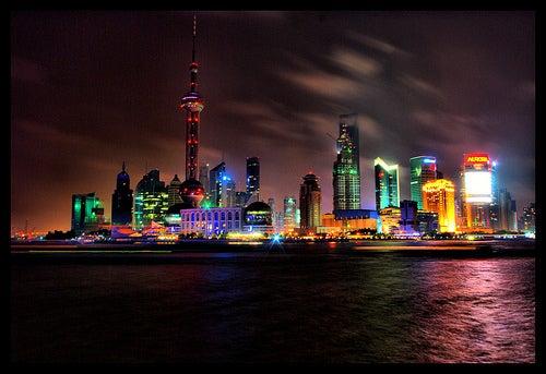 Bund y Pudong en Shangái, el pasado y el futuro