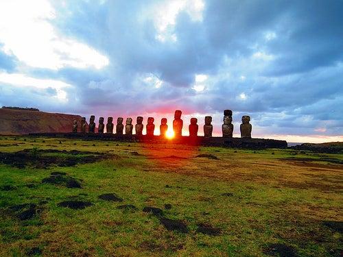 La Isla de Pascua y las estatuas moai