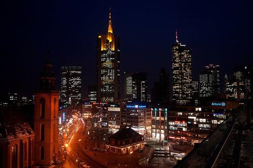La ciudad de Frankfurt, la Manhattan de Alemania