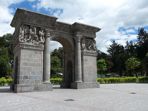El monumento de la Llama Eterna.