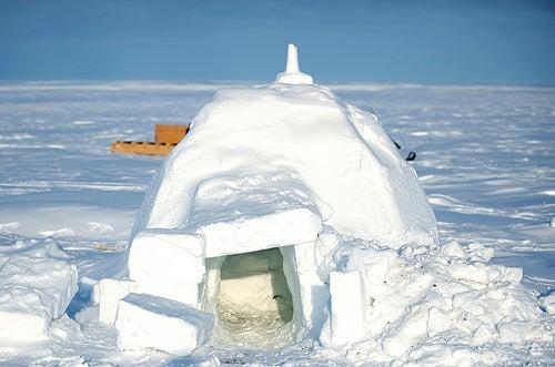 Igloo in Alert, Nunavut