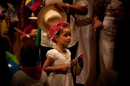 Los niños venezolanos celebrando Navidad.