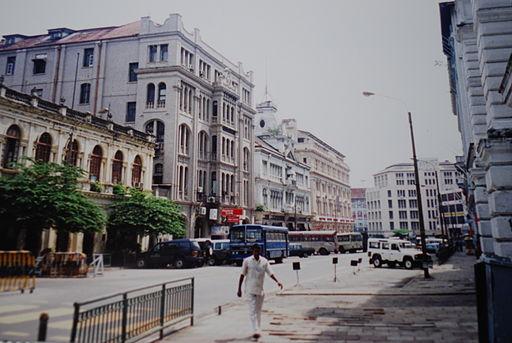 Una calle de Colombo.