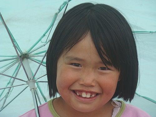 Una niña en Groenlandia.