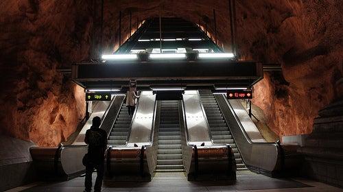 Una galería de arte sin fin en el metro de Estocolmo