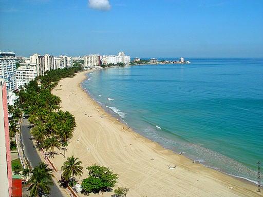 Una de las hermosas playas de Puerto Rico.