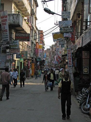 Thamel, el barrio mochilero de Katmandú.