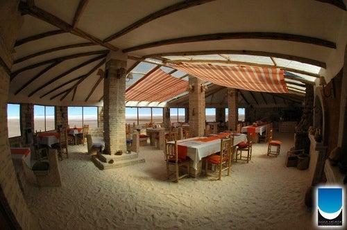 """El """"Luna salada"""", un hotel construido en sal."""