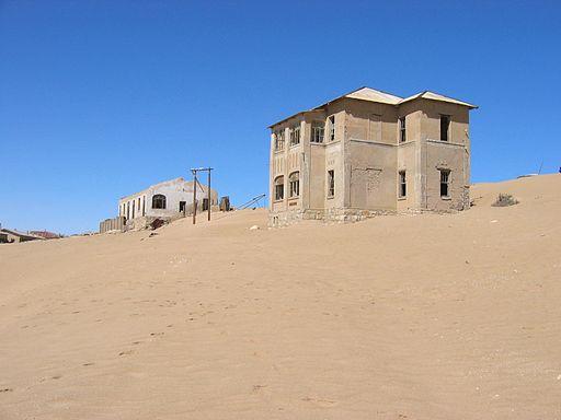 Kolmanskop en Namibia.