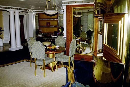 Las ostentosas habitaciones del hotel.