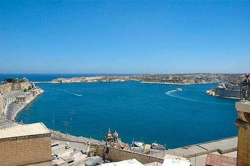 La isla de Malta, en el Mediterráneo.