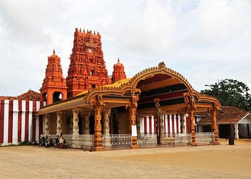 El templo Nallur Kandaswamy en Sri Lanka.
