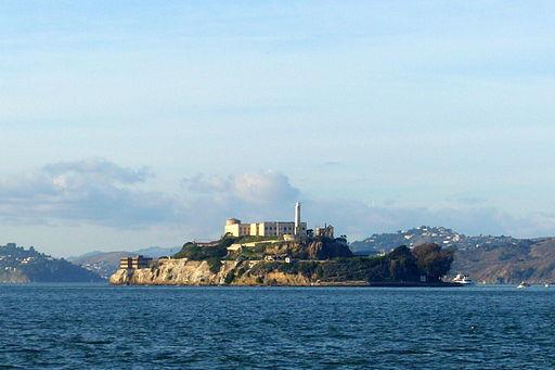 La Isla de Alcatraz, en California, Estados Unidos.