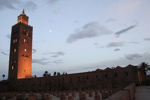 La ciudad de Marrakech y la plaza Djemaa el-Fna