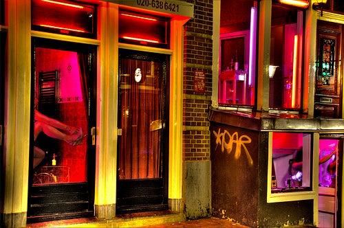 El Barrio Rojo en Ámsterdam, Holanda.