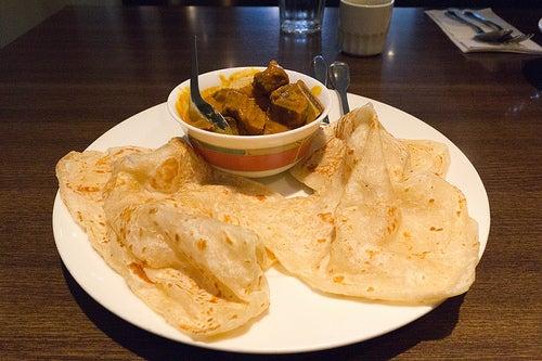 El Roti prata es muy apreciado en Singapur.
