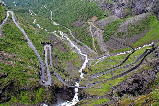 La escalera del Troll, en Noruega.