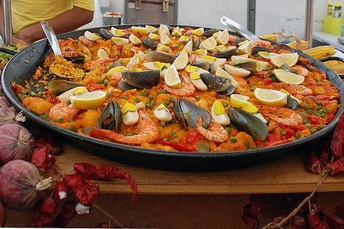 La exquisita paella valenciana.