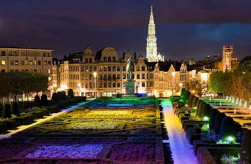La ciudad de Bruselas, la capital de la Unión Europea