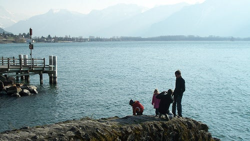 El Lago Leman, el espejo de Los Alpes