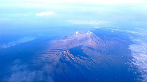 El Kilimanjaro, desde el cielo