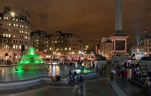 Trafalgar Square en Londres, centro emblemático y cultural