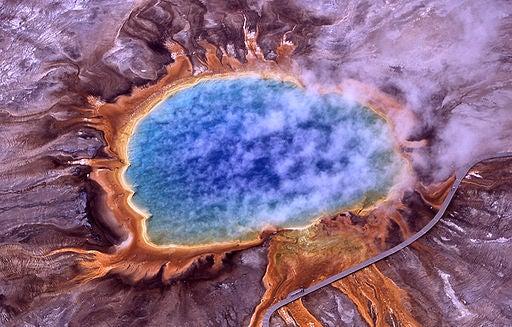 El espectacular colorido de la Gran Fuente