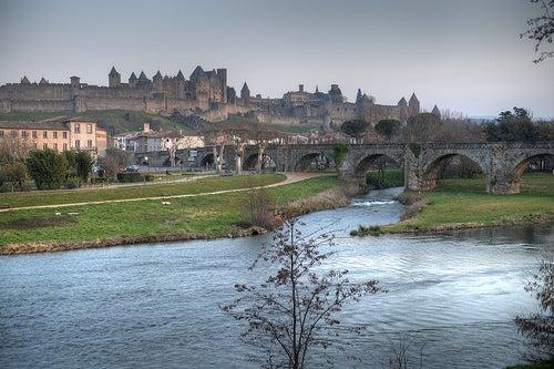 La ciudad encantada de Carcasona en Francia