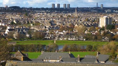 La ciudad de Aberdeen, una de las más antiguas de Escocia