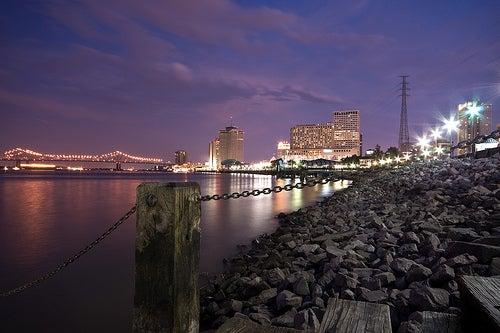 La ciudad de Nueva Orleans, a orillas del río Misisipi