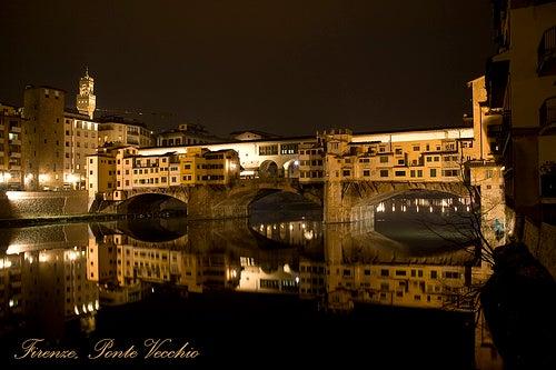 el ponte vecchio noche