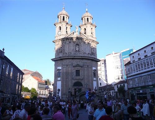 iglesia de la peregrina ciudad de pontevedra