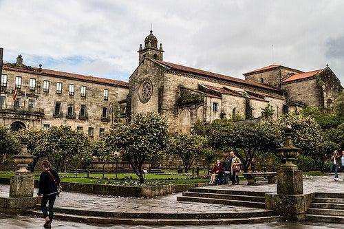 plaza de la herreria ciudad de pontevedra