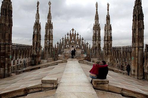 terraza panoramica duomo de milan