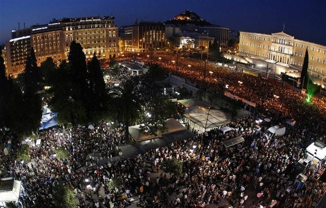 la plaza sintagma en grecia