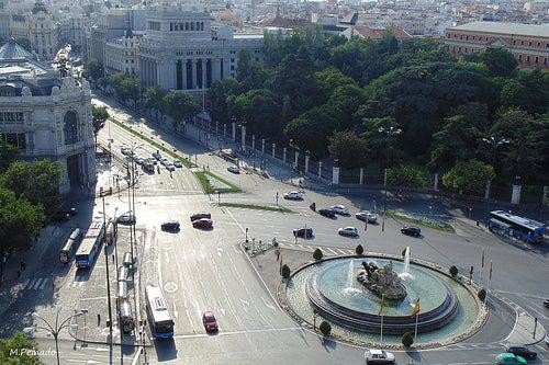 la plaza cibeles en madrid