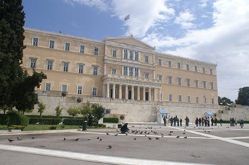 parlamento la plaza sintagma